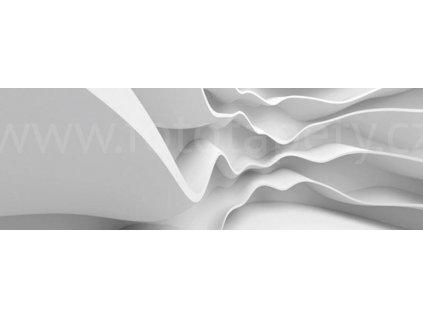 Dvoudílná vliesová fototapeta Bílá abstrakce, rozměr 375x150cm, MP-2-0295