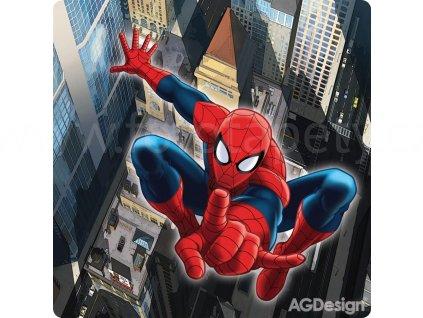DecoPlex - dekorativní obrázek Spiderman ve skoku, PDD3001, rozměr 19x19cm, skladem poslední 1 ks!!!