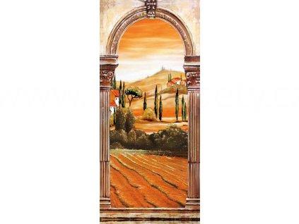 Jednodílná dveřní fototapeta Toscana, 90x200 cm, skladem poslední 1ks