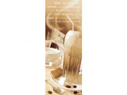 Jednodílná dveřní fototapeta Coffee time - Čas na kávu, 90x200 cm, skladem poslední 1 ks!