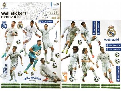 Samolepky na zeď Fotbalisté Real Madrid, 29,7x42 cm