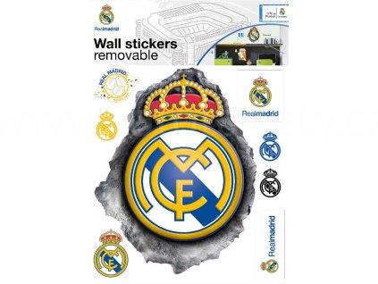 Samolepky na zeď Fotbalový znak Real Madrid, 29,7x42 cm