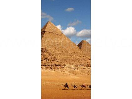 Dvoudílná vliesová fototapeta Egyptské pyramidy, rozměr 150x250cm, MS-2-0051