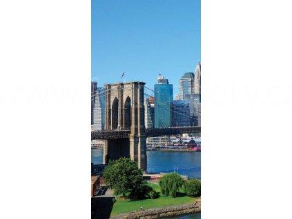 Dvoudílná vliesová fototapeta Brooklynský most, rozměr 150x250cm, MS-2-0001