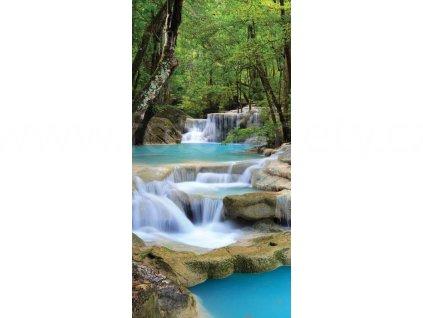 Dvoudílná vliesová fototapeta Vodopády, rozměr 150x250cm, MS-2-0086
