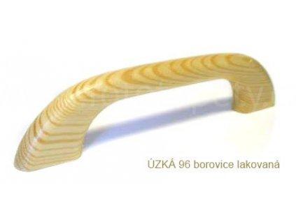 dřevěná úchytka ÚZKÁ 96,128