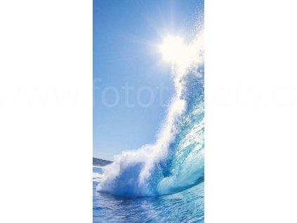 Dvoudílná vliesová fototapeta Vlny, rozměr 150x250cm, MS-2-0214