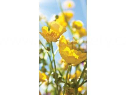 Dvoudílná vliesová fototapeta Žluté květy, rozměr 150x250cm, MS-2-0134