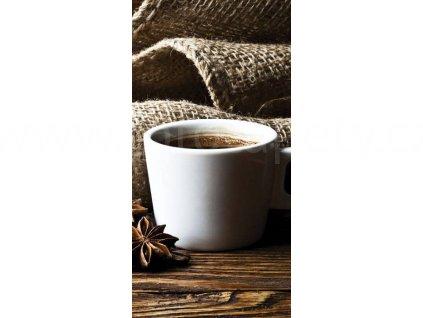 Dvoudílná vliesová fototapeta Šálek kávy, rozměr 110x220cm, S 210