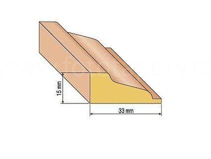 Dřevěná profilová lišta, 31 (Varianta borovice 1 metr)