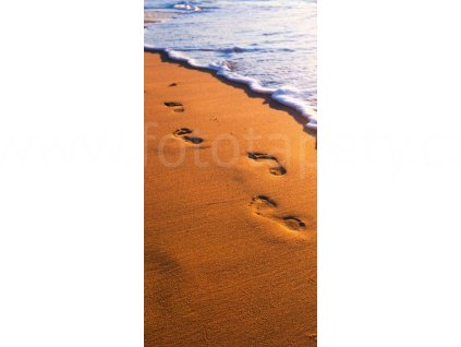 Dvoudílná vliesová fototapeta Stopy v písku, rozměr 150x250cm, MS-2-0193