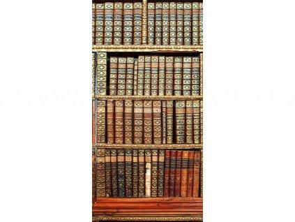 Jednodílná vliesová fototapeta Knihovna, rozměr 110x220cm, S 511
