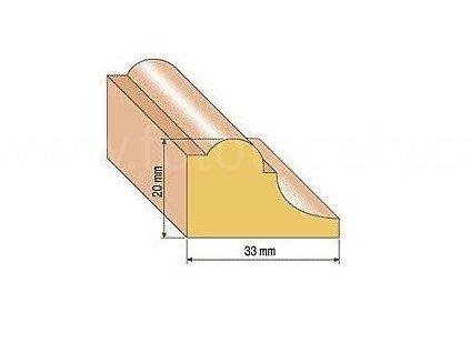 Dřevěná profilová lišta, 111 (Varianta borovice 1 metr)