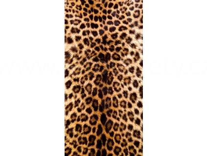 Dvoudílná vliesová fototapeta Leopardí kůže, rozměr 150x250cm, MS-2-0184