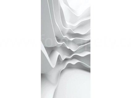 Dvoudílná vliesová fototapeta Bílá abstrakce, rozměr 150x250cm, MS-2-0295
