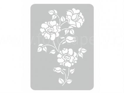 Malířská šablona Růže (Roses), 44x60cm, SAB083