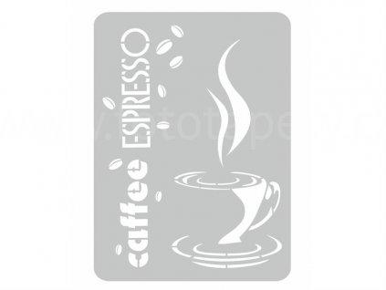 Malířská šablona Caffee espresso (Caffee espresso), 44x60cm, SAB091