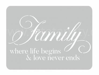 Malířská šablona Family (Family), 44x60cm, SAB093