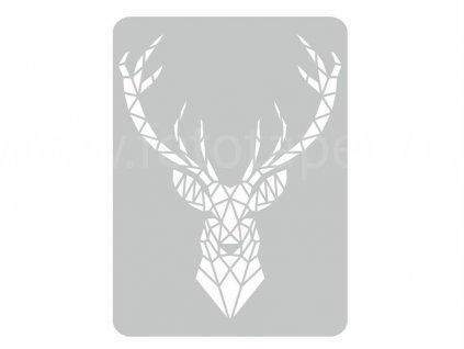 Malířská šablona Jelen (Deer), 44x60cm, SAB094