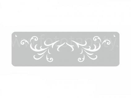 Malířská šablona a bordura Ornament II (Scars), 14x44cm, SAB122