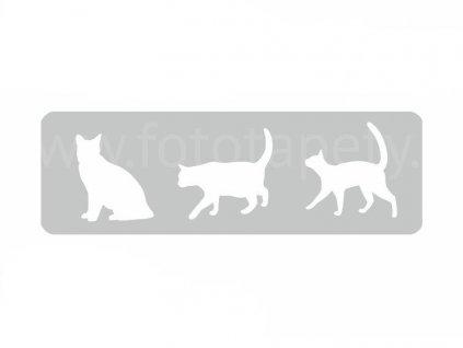 Malířská šablona a bordura Kočky (Cats), 14x44cm, SAB140