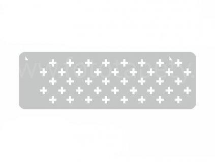 Malířská šablona a bordura Znaménka plus (Pluses), 14x44cm, SAB143