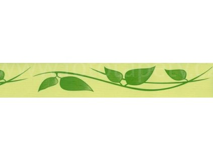 Samolepící bordura Zelené listy, šíře 5cm, délka 10m (SB02-406)