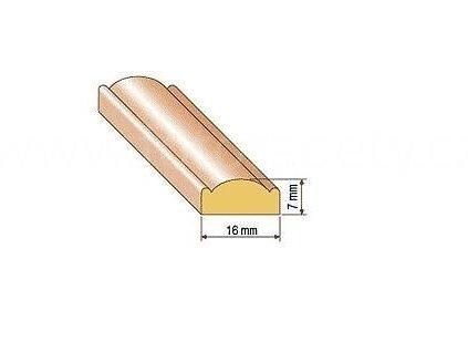 Dřevěná profilová lišta, 27 (Varianta borovice 1 metr)