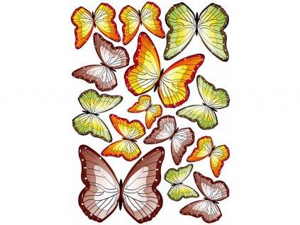 Samolepící dekorace na zeď a nábytek - Barevní motýlci, ST1 015, 50x70cm