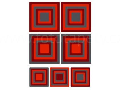 Samolepící dekorace na zeď a nábytek - Čtverce, ST1 020, 50x70cm