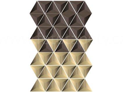 Samolepící dekorace na zeď a nábytek - Trojúhelníky, 50x70cm, ST1 023