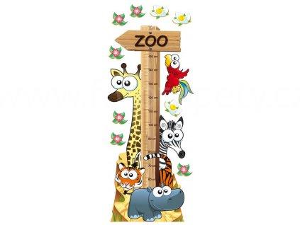 Samolepka na zeď a nábytek - Metr se zvířátky, 65x165cm, ST2 001