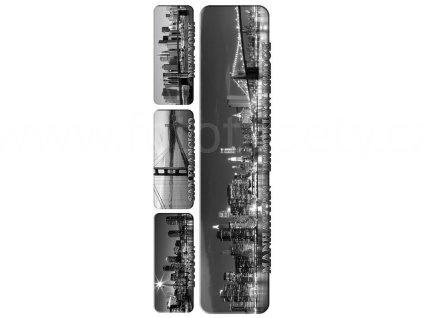 Samolepka na zeď a nábytek - Panoramata měst, 65x165cm, ST2 010