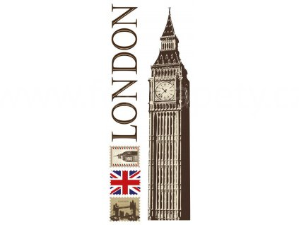 Samolepka na zeď a nábytek - Londýn, 65x165cm, ST2 022