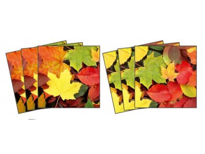 Dekorace na kachličky, vzor Podzimní listy, 15x15cm