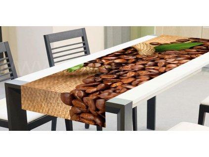 Běhoun na stůl - Kávová zrna, 40x140cm, TS 007