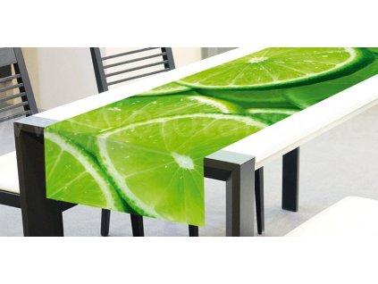 Běhoun na stůl - Limetky, 40x140cm, TS 011