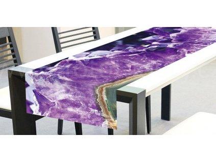 Běhoun na stůl - Ametyst, 40x140cm, TS 015