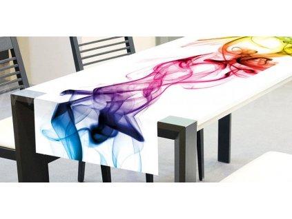 Běhoun na stůl - Barevný kouř, 40x140cm, TS 017