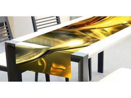 Běhoun na stůl - Zlaté víření, 40x140cm, TS 018