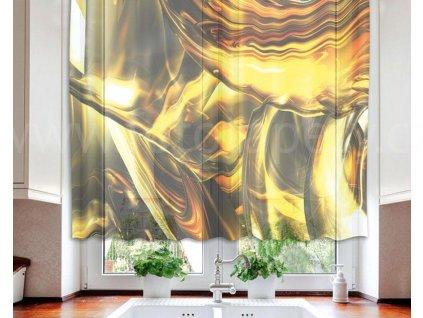 Foto záclona Zlaté víření, 140x120cm
