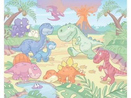 Dětská 3D fototapeta Baby Dino - Malý dinosaur, rozměr 305cm x 244cm