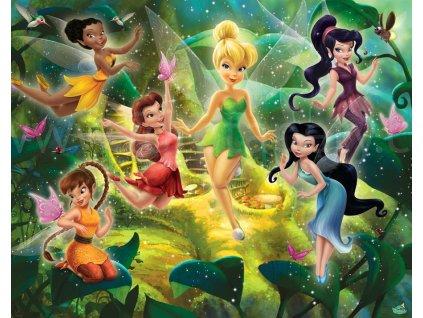 Dětská 3D fototapeta Disney Víly rozměr 244 x 305 cm, skladem