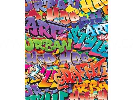 Dětská 3D fototapeta Graffiti rozměr, 203x243 cm