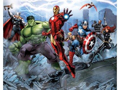 Dětská 3D fototapeta Avengers Assemble, rozměr 244 x 305 cm