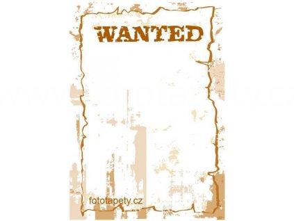 Samolepka na zeď Wanted popisovací, 70x100cm, poslední 1 ks!