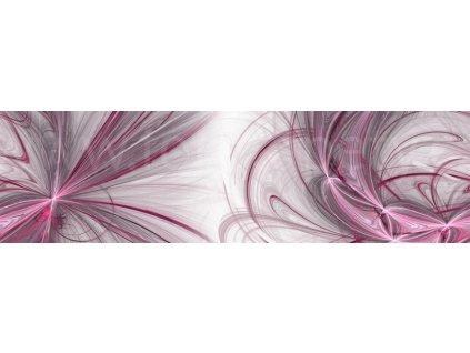 Samolepící bordura - Růžovo šedá abstrakce, 14cm x 5m,  WB 8212