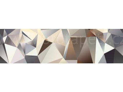 Samolepící bordura - Šedo béžová abstrakce, 14cm x 5m,  WB 8213