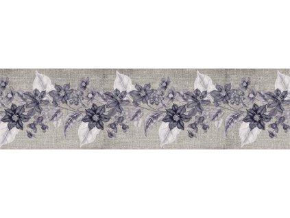 Samolepící bordura - Fialové květy, 14cm x 5m,  WB 8227
