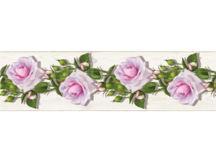 Samolepící bordura - Růže, 14cm x 5m,  WB 8229